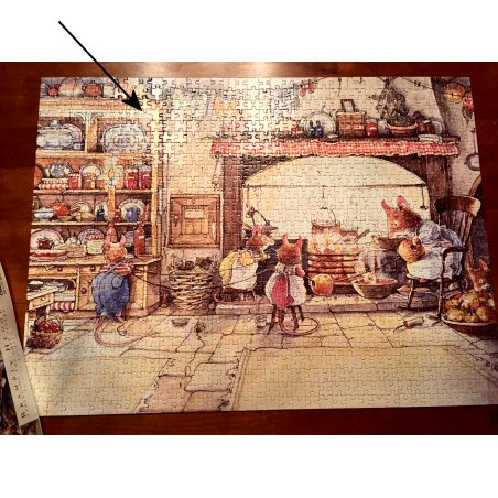 MB's Brambly Hedge: Stringing the Crab Apples(Great Aremican Puzzle Factory) repaired jigsaw puzzle