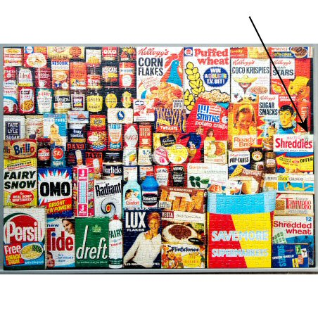 RK's (UK) repaired Memories of the 60's - 1960's Shopping Basket (Gibsons) jigsaw puzzle