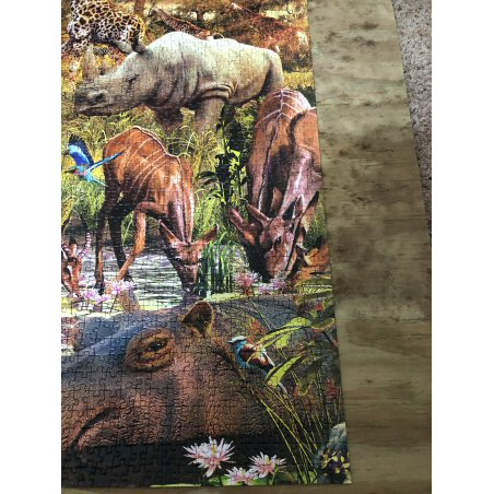 JL's repaired 'Animals in Watering Hole'jigsaw